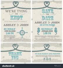 Beach Wedding Invitation Cards Tying Knot Beach Wedding Invitation Card Stock Vector 149103734