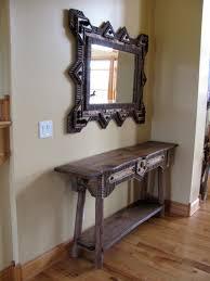 Rustic Hallway Table Custom Rustic Furniture By Don Mcaulay Rustic Hall Table