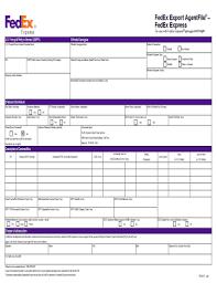 2013 2017 form fedex export agentfile fill online printable