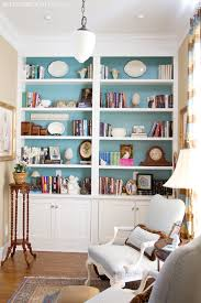 Colorful Bookcases Cottage Library Study The Lettered Cottage Bookcases