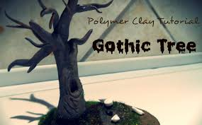 gothic scary tree polymer clay tutorial disgustor youtube