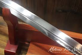 hand forged japanese black nagamaki samurai sword katanas for sale