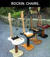repurposed guitar chair chairs decoration for the piano