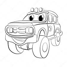 jeep vector cartoon car jeep u2014 stock vector vitasunny 64628455