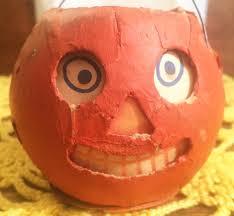 tiny all original vintage halloween jack o u0027 lantern decoration