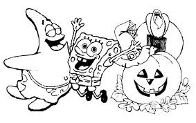 spongebob halloween printable coloring pages u2013 festival collections