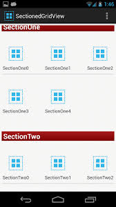 gridview android github madhu314 sectionedgridview a sectioned gridview