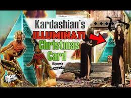 the kardashians release illuminati christmas card featuring
