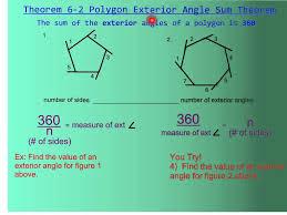 Measures Of Interior Angles 6 1 Polygon Angle Sum Theorem Youtube