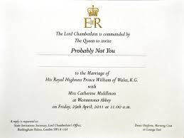 royal wedding invitation royal wedding invitations are out is the post office open on