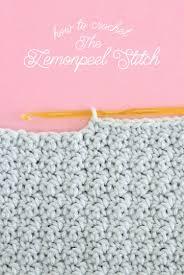 pattern of crochet stitches how to crochet lemon peel stitch persia lou