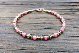 pink glass bead bracelet images Bead stringing 101 beaded bracelet making kit pink rose glass jpg