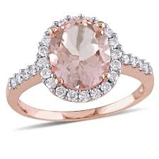 pink morganite pink morganite 10k gold engagement ring jcpenney