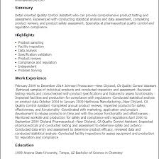 Quality Assurance Resume Templates Download Quality Control Resume Haadyaooverbayresort Com