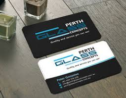 Business Cards Perth Design Some Business Cards For Perth Glass Concepts U0026 Ozwest