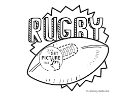 rugby sport coloring page for kids printable free 2 coloing