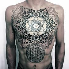 Male Flower Tattoos - 100 flower of life tattoo designs for men geometrical ink ideas