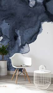 best 25 watercolor walls ideas only on pinterest indigo walls let sumptuous navy blue hues envelope your living room spaces this wondrous watercolor wallpaper design