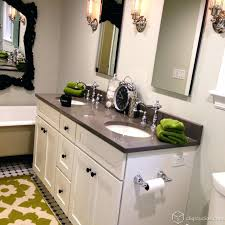 bathroom with white cabinets white bathroom vanity with dark