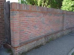 rebuild brick garden wall bricklaying job in chelmsford essex