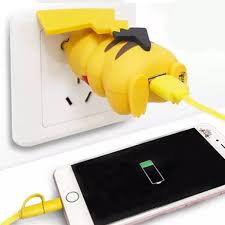 pikachu plug phone charger shut up and take my yen