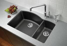 quartz kitchen sinks pros and cons granite kitchen sinks stylish blanco black sink home decor interior