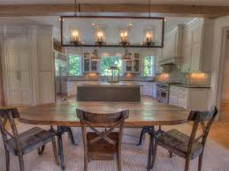 Rustic Table Ls Rustic Kitchen With Kitchen Island Flat Panel Cabinets In