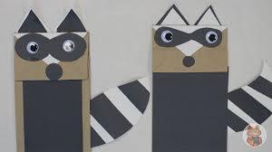 paper bag raccoon puppet catseye pest control