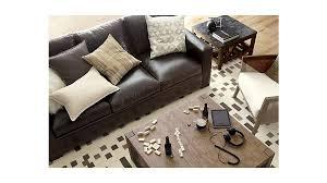 axis ii dark brown leather queen sleeper sofa crate and barrel