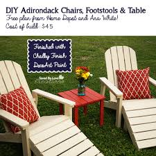 Diy Adirondack Chairs Diy 45 Five Piece Outdoor Adirondack Furniture Set