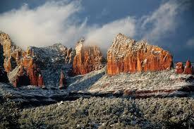 sedona arizona winter snow pictures