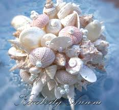 Seashell Bouquet Beach Wedding Seashell Bouquet For Brides Shell And Sea Urchin