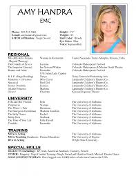 special skills for resume examples cover letter sample acting resume sample acting resume for child cover letter acting modeling resumes template resume samples charming child actor sample wonderful xsample acting resume