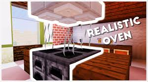 Minecraft How To Make A Furniture by Minecraft How To Make A Realistic Oven Youtube
