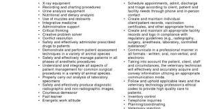Vet Tech Resume Examples by Vet Tech Resume Qualifications Vet Tech Resumes Resume Template