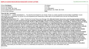 sample human resources manager cover letter bunch ideas of cover
