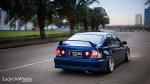 lexus is200 indonesia platinum jakarta lady on wheels indonesian stance
