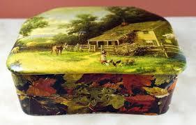 Yellow Decorative Box Vintage Celluloid Decorative Boxes