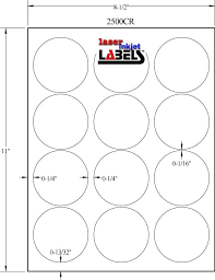 1 Inch Circle Template by 2 5 Circle Brown Kraft Labels Laser Inkjet Labels