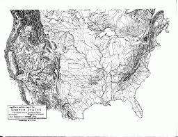 map us landforms us map landform outline us mappery