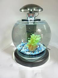 aquarium bureau stylish globe starter aquarium with l e d light filter his or