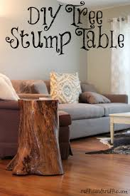 How To Make End Tables by How To Make A Tree Stump End Table Outdoor Patio Tables Ideas