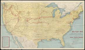 Union Pacific Railroad Map Military Map Of The United States Of America Showing Location Of