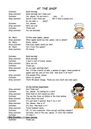 a simple role play exercise about buying clothes esl worksheets