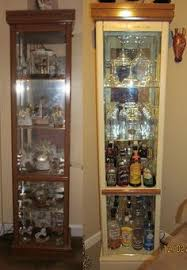Curio Cabinet Diy Liquor Cabinet This Looks Like An Old Vhs Cabinet One Of My