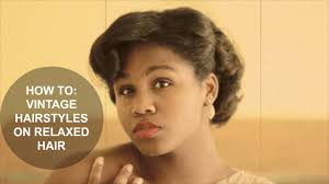 how to vintage hairstyles on short relaxed hair part 2 youtube