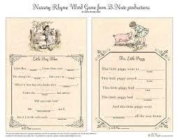 Thanksgiving Madlib Bnute Productions Free Printable Nursery Rhyme Word Game