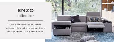 west elm reclining sofa enzo collection west elm