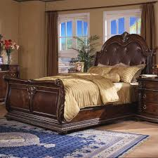 Sleigh Bed Bedroom Set Davis Direct Coventry Traditional Queen Sleigh Bed With Button