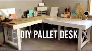 Diy Pallet Desk Diy Pallet Desk Upcycling Pallets